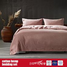 Linge de lit de chanvre de coton pour l'usage à la maison de luxe d'hôtel
