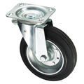 Mülleimer Serie - Schwarzes Eisen Kern Gummi Rad