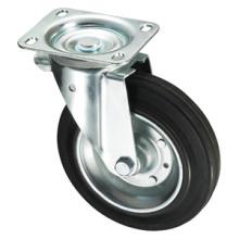 Серия корзин для мусора - Черное железобетонное резиновое колесо