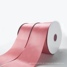 Atacado Custom Polyester dupla face fita de cetim com o seu logotipo