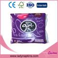 Serviettes hygiéniques en coton biologique ultra-mince avec étiquette privée