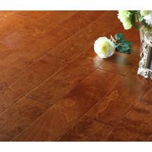 Multi Layer Engineered Wood Floor, Rustic Engineered Birch Flooring with Parquet Design