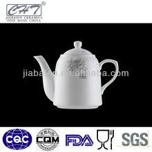 A004 Top sale white fine bone china ceramic arabic coffee pot
