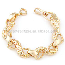 High quality metal auspicious bracelet vintage snake bracelet