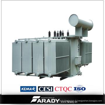Transformateur d'huile de changeur de prise de charge triphasé 500kVA