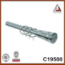 C19500 fancy chrome curtain rod finials,home decor curtain rod accessories