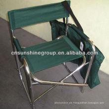 Silla de director de aluminio ligero con bolsa de transporte conveniente