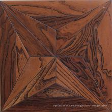 Suelo de madera dura modificada ULTRAVIOLETA de encargo del parquet de madera del olmo del patrón