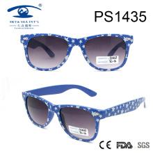 Klassische Art-Punkt-Muster-Himmel-blaue Rahmen-PC-Sonnenbrille (PS1435)
