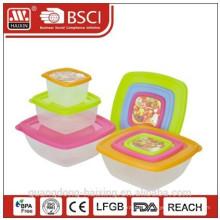 Kunststoff Square Food Container 0.2L/0.6L/1.3L(3pcs)