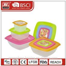 Carré de plastique alimentaire contenant 0.2L/0.6L/1.3L(3pcs)