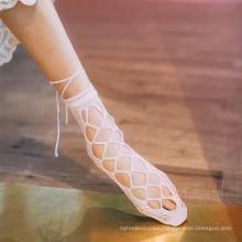 kids glass silk socks half transparent crystal socks