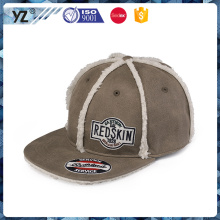customized oem flat brim winter hats snapback caps and hats with low MOQ and cheap price
