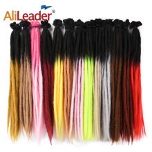 Ombre Dread Locks Синтетические вязаные крючком волосы 2 тона