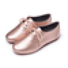 Spätestes Modell schnüren sich oben Loafer-Schuh-Damen-flache Fersen-Kleid-Schuh