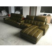 Sofá moderno, sofá secional, mobília Home, sofá (A848) de couro