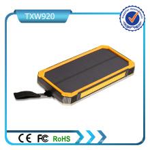 5V 2A de entrada Puertos USB Dual Solar Power Bank