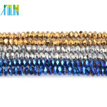 # 5040 New cristal de vidro Rondelle facetada 8mm Beads U escolher cores