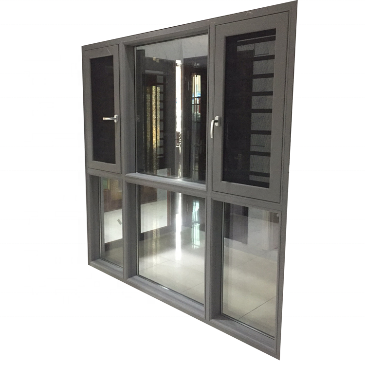 6mm double tempered clear glass security windows