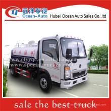 SINOTRUK HOWO 5000liter 5ton precio mini camión cisterna