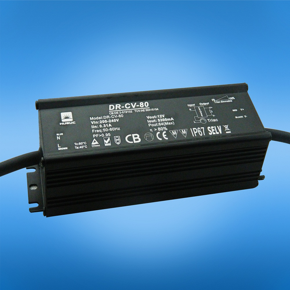 80W DC12V LED 0-10v dimming driver