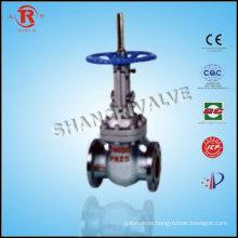 Automatic compensation balanced double flat gate valves wheel handle