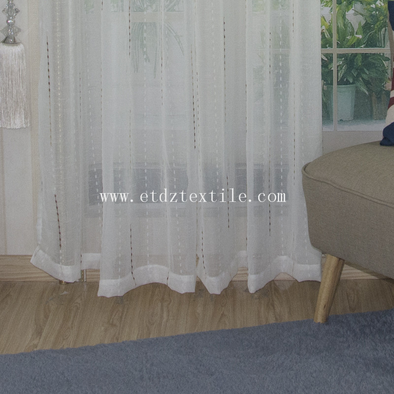 100% Polyester Jacquard Sheer Curtain