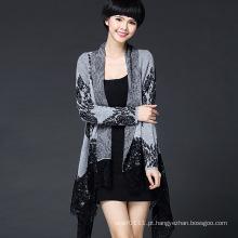 Mulheres moda viscose malha cardigan do laço (yky2063)