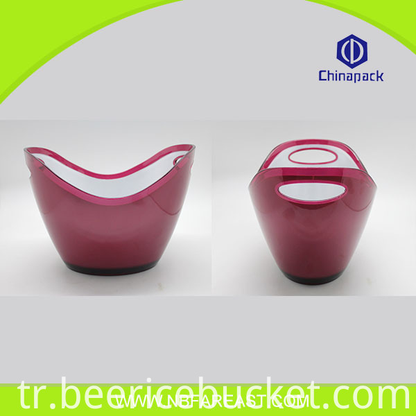 Colorful China company supply design direct wholesale steel ice bucket