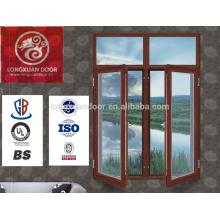 2015 moderne beste Preisqualität gehärtetes sicheres Glas Holz Schaukel Fenster