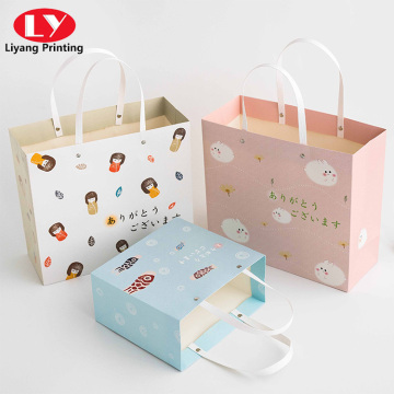 Shopping confezione regalo in carta con logo