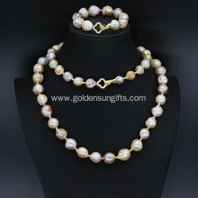 Unique Freshwater Pearl Necklace and Bracelet Sets