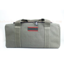 OEM Canvas Cow Leather Travel Baggage Luggage Bag with Lock