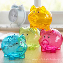 OEM Transparent PS Durable Piggy Bank Saving Box Money Box