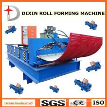 Machine de formage de rouleaux de toiles de toit de courbe Dixin