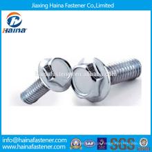 China fornecedor DIN6921 Dacromet / HDG / zinco chapeado hexagonal parafuso com flange aço inoxidável