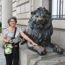 Mordern jardim esculturas decorativas estátuas ao ar livre do par estátua de leão