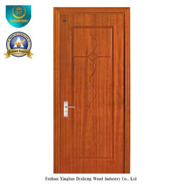 Diseño chino Puerta HDF para interior con color marrón (ds-092)