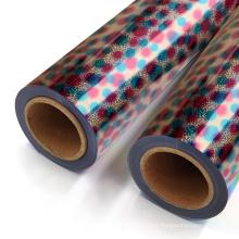 Yanyan holographic rainbow dot vinyl graphic heat transfer film foil soft for textil