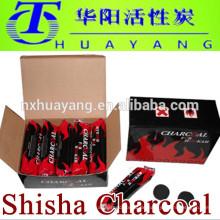 100% natürliche Holzkohle, schnelle Beleuchtung Herstellung Shisha Kohle für Shisha