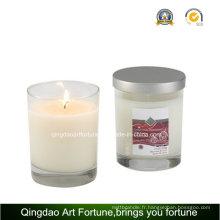 Bougie parfumée en verre pour décoration intérieure