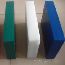 Folha plástica / placa do PE azul branco verde da resistência de corrosão
