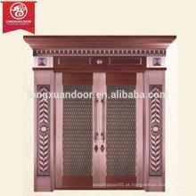 Porta de bronze exterior personalizada da fábrica, porta de cobre duplo