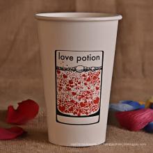 Пользовательский логотип печатный холодный напиток бумажный стаканчик