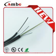 LSZH Jacket 1/2/4 Core FTTH SM Membro de força não metálica 2KM Spool ftth drop cable