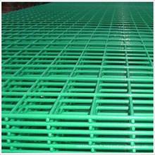 Panneau de treillis métallique soudé par PVC vert