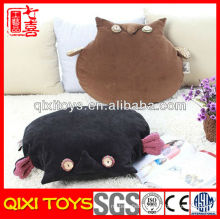 Professional design plush night owl car seat cushion