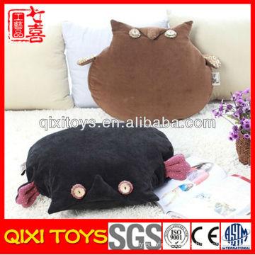 Professional design plush night owl car seat cushion