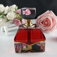 Garrafas de perfume de lustro de vidro do diamante de vidro 6ml de frasco de perfume