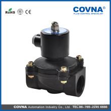 Plástico anti-corrosivo elevación directa diafragma alcohol válvula solenoide 24v